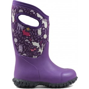 Bogs York Bunny Wellingtons Purple Multi