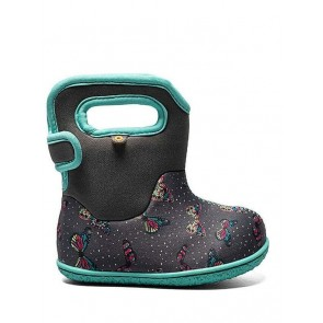 Baby Bogs Butterflies Wellies Dark Grey Multi