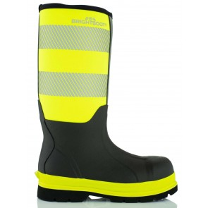 Brightboot Waterproof High Leg Safety Boot Yellow/Black