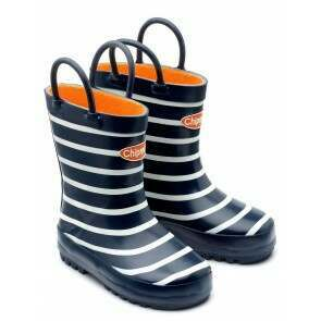 Chipmunks Jack Navy Stripe Wellies