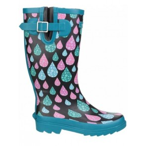 Raindrop Print Welly