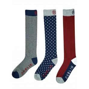 Dublin Classic Socks 3 Pack Burgundy