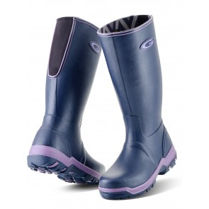 Grubs Rainline Wellies Aubergine