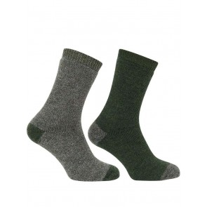 Short Welly Sock (Twin Pack) Tweed/Loden