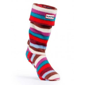 Hunter Kids Striped Fleece Welly Socks