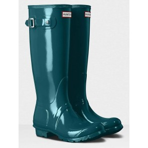 Hunter Women's Original Tall Gloss Galvanize