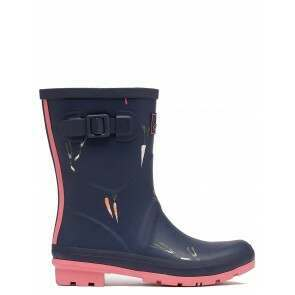 Joules Molly Short Welly Navy Vegetable