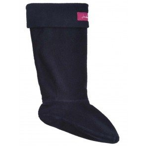 Joules Welton Fleece Welly Socks Marine Navy