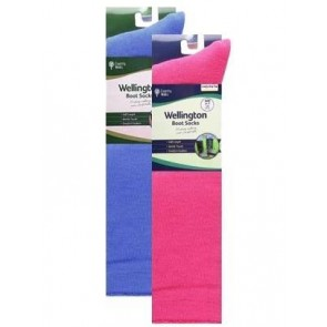Ladies Twin Pack Welly Socks
