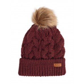 Barbour Penshaw Cable Knit Beanie Bordeaux