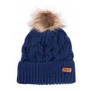 Barbour Penshaw Cable Knit Beanie Navy
