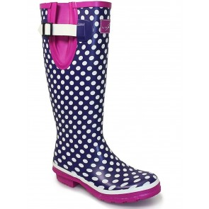 Lunar Polka Dot Purple Wellies