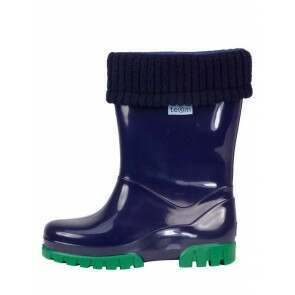 Term Childrens Rolltop Welly Navy