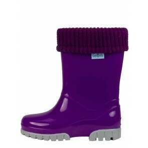 Term Childrens Rolltop Welly Purple