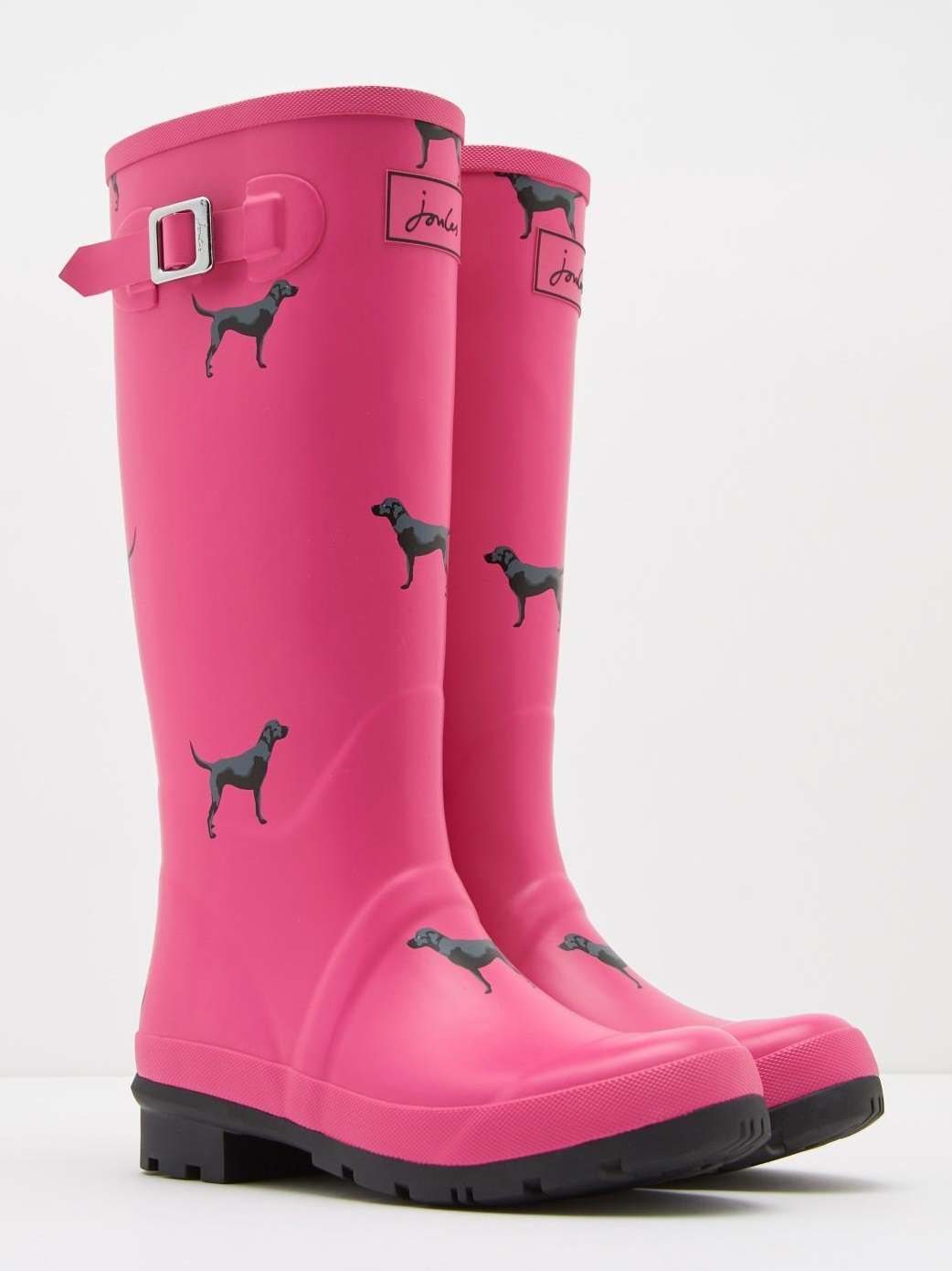 Joules Pink Labrador Printed Welly