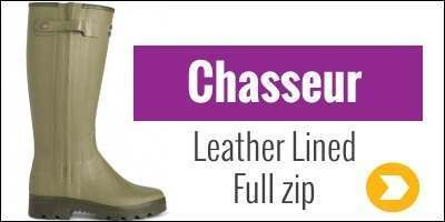 Le Chameau Chasseur Leather Lined Wellies