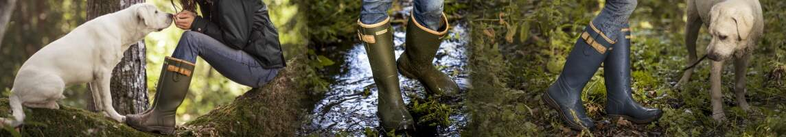 Ariat Burford wellies and waterproof leather country boots