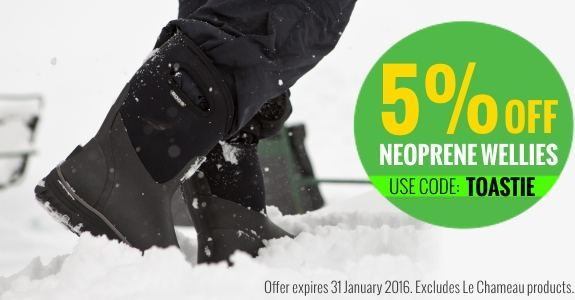 5% off neoprene lined wellies until the end of January