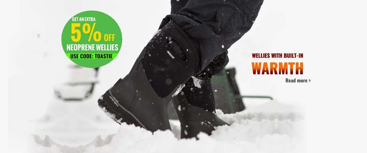 Warm winter wellies - save an extra 5%