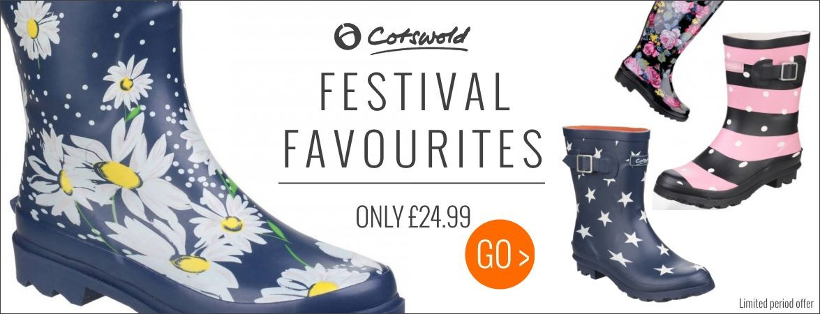 Cotswold festival wellies only £24.99