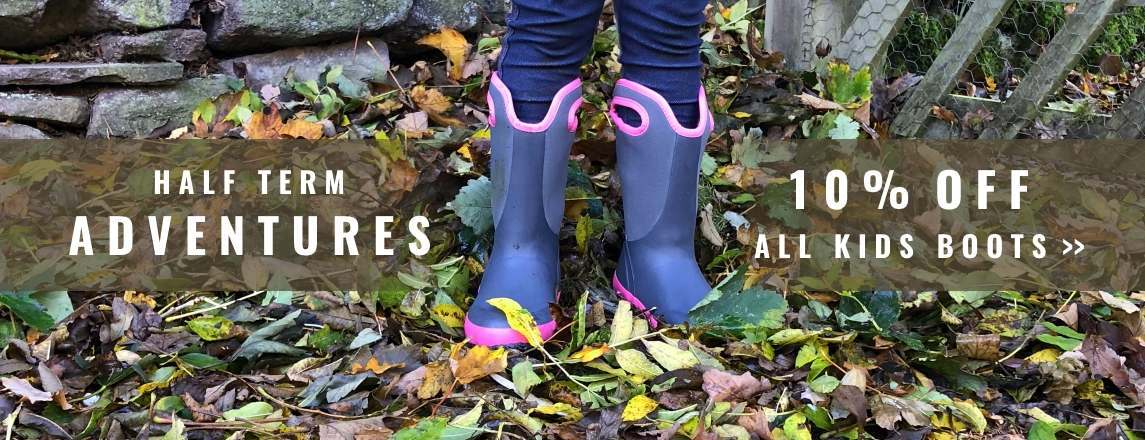 Get an extra 10% off any purchase of kids' wellies