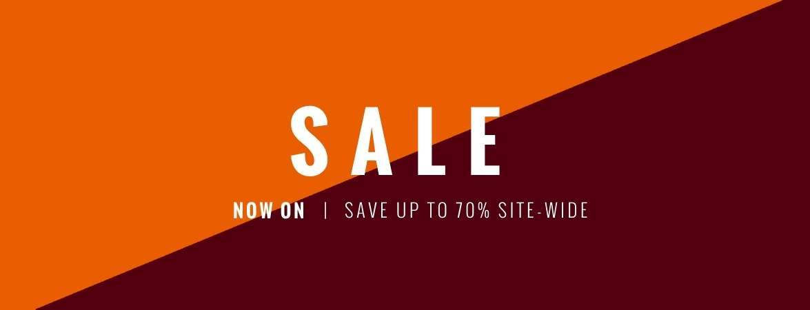 Sale now on - save up to 70%
