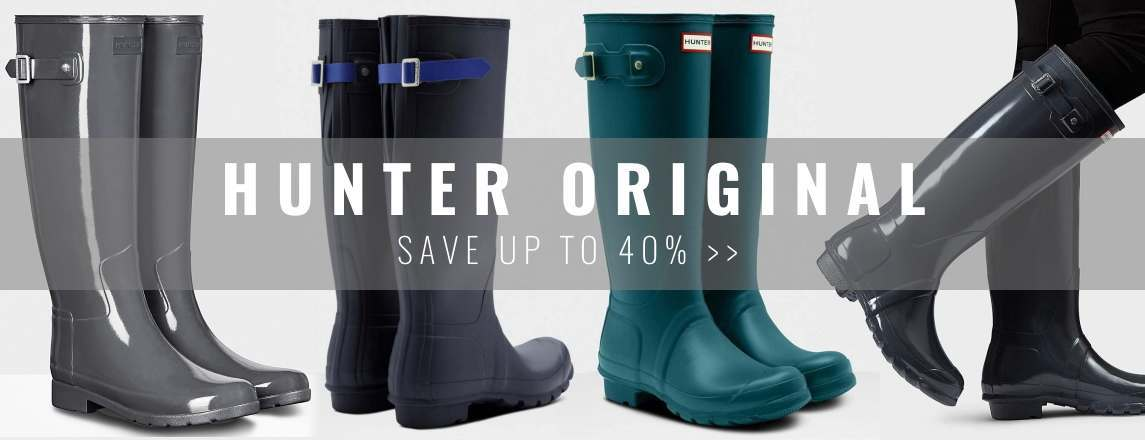 Save up to 40% on Hunter Wellies