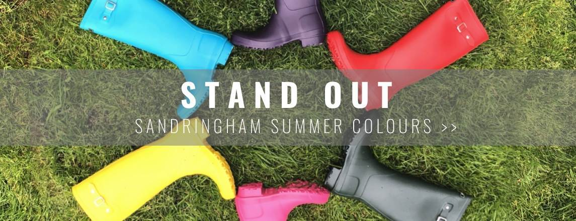 Sandringham Summer Colours - Wellies to stand out in