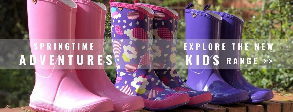 Get the kids ready for Spring Adventures with our new Kids Wellies Range