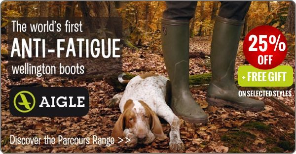 25% off selected Aigle Boots