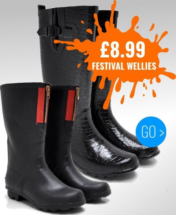 Festival wellies from just £8.99