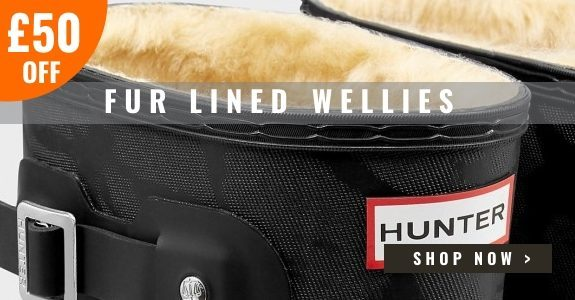 £50 off Hunter Fur Lined Wellies