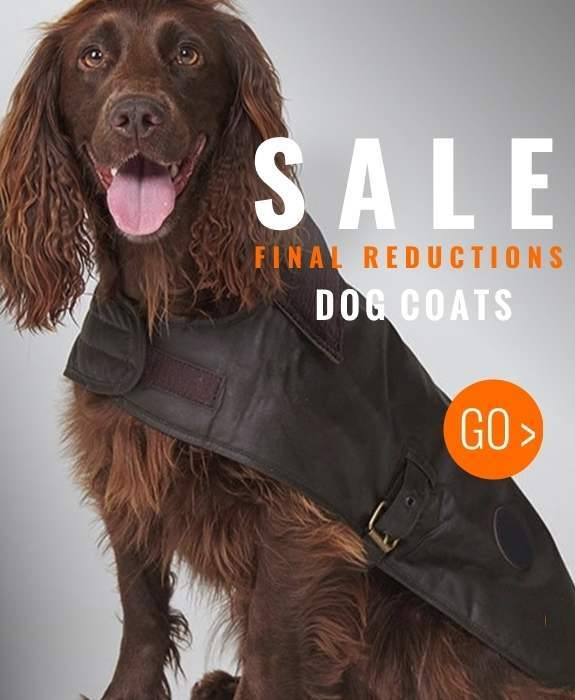 Final reductions on all dog coats