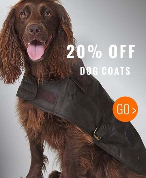 20% off all dog coats