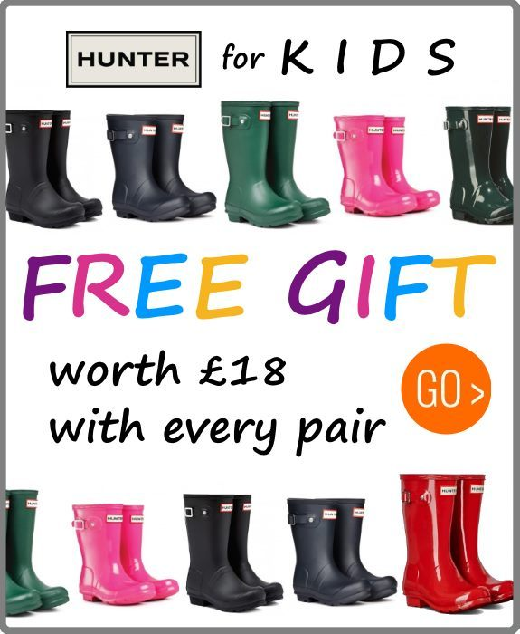 Hunter Kids wellies with free gift