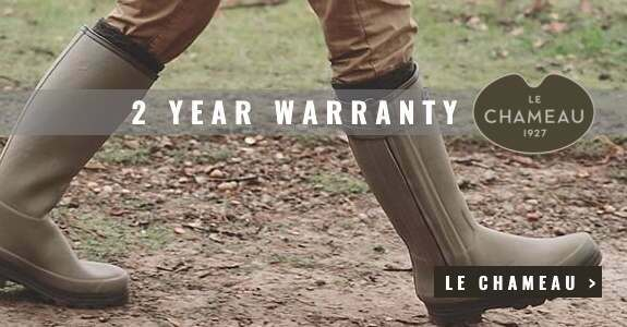 2 year warranty with all Le Chameau wellies