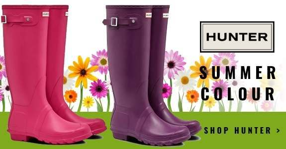 Hunter wellies in Summer's hottest colours