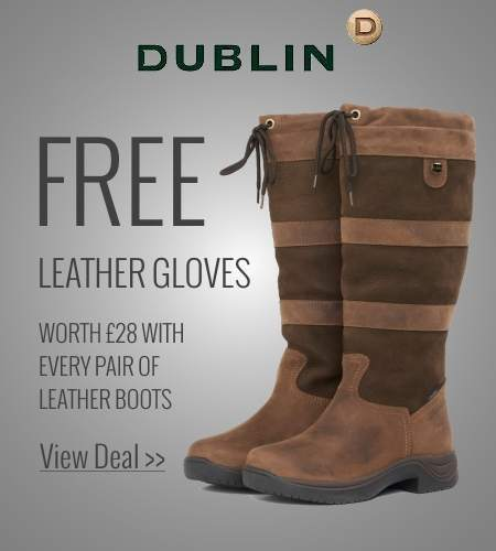 Free leather gloves with Dublin leather boots
