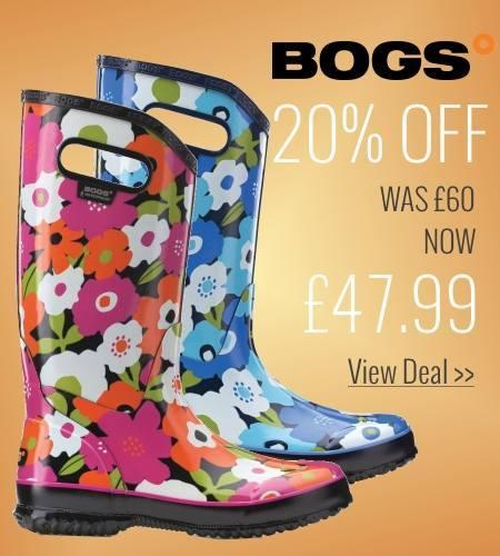 25% off Bogs Rainboot Spring Flowers
