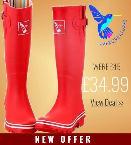 New offer on Evercreatures Red Wellies
