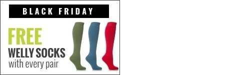 Free wellington boot socks with every pair