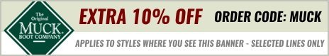 Get an extra 10% off selected Muck Boots