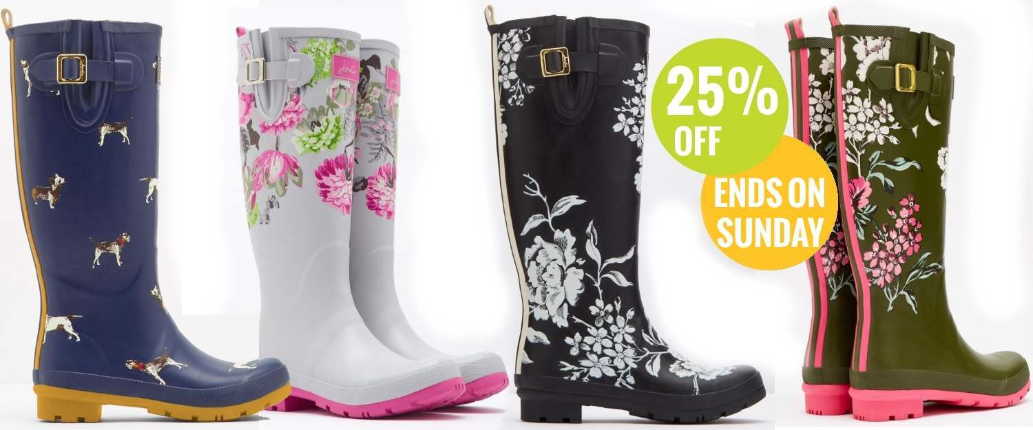 Joules wellies price dropped